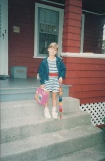 Justine to kindergarten 1990